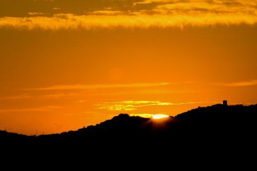 Sunset over St. Thomas Mountains