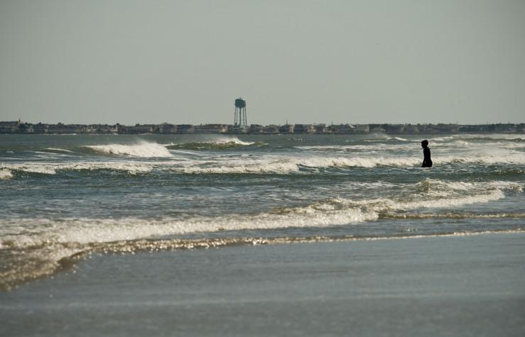 Windy April Surf