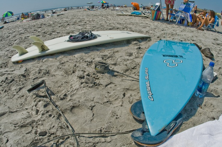 Boards resting after a good session