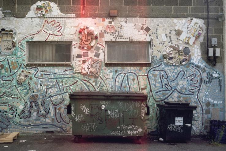 Mosaic Art and Dumpster Art