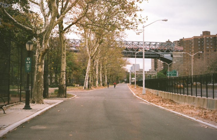 Walk next to FDR Drive