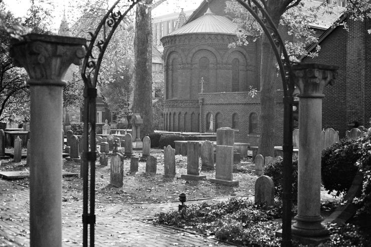 Romanesque Church Graveyard