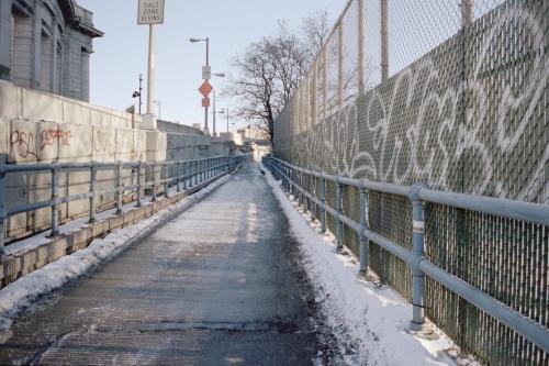 Walking up the Bridge